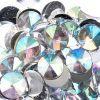 Acrylic Rivoli Flat Back Rhinestones 14mm Crystal Aurora Borealis 200pcs/bag